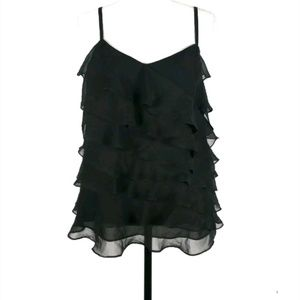 Ann Taylor tiered ruffle front tank top